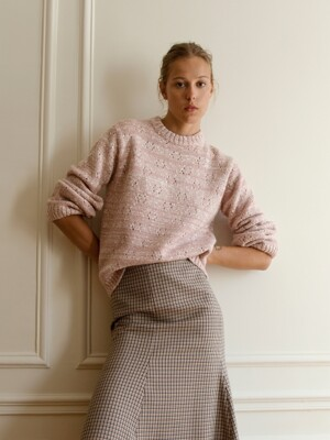 Open-knit Wool Jumper_Pink