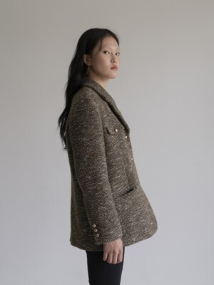 BOY JACKET _KHAKI TWEED