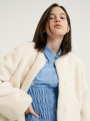 Lamb fur crop jacket