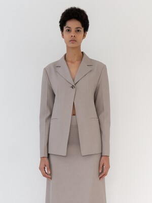 One button Jacket [Khaki]