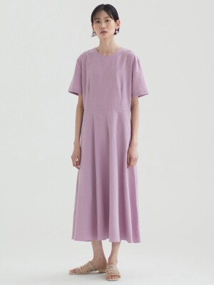 Linen Flared Dress_5color