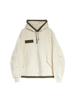 FISHTAIL HOODED SWEATSHIRT / OFF WHITE
