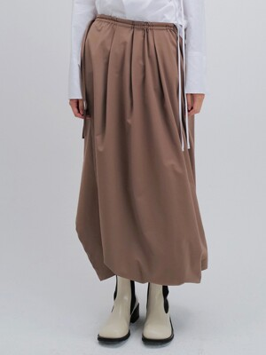 STRING WRAP SKIRT (BEIGE)