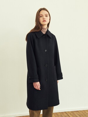 SINGLE BREASTED WOOL COAT (JTJC301-50)