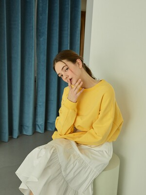 Sweet Crop Sweat Shirts (Yellow)