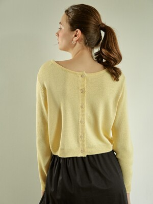 Soft Linen 2-way Cardigan (Yellow)