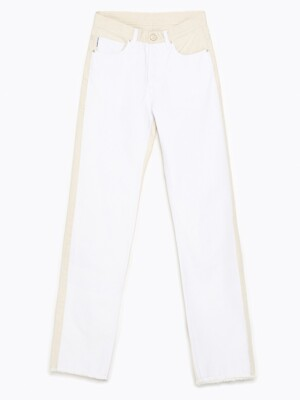 Two-tone straight jeans_B215AWN002WH