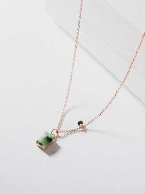 [SILVER 92.5] JADE CHICK NECKLACE