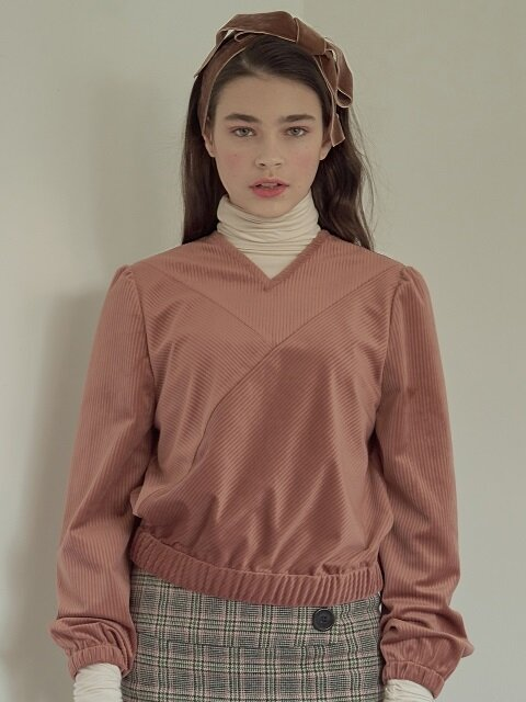 velvet plum sweat shirt