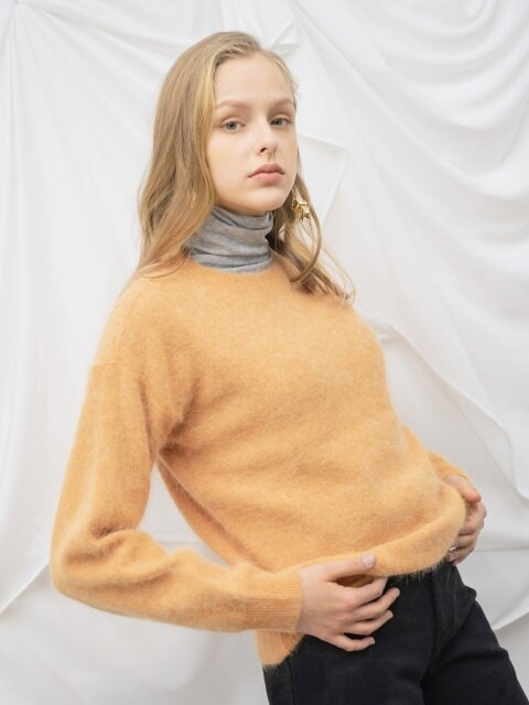 Soft Angora Knit_Orange