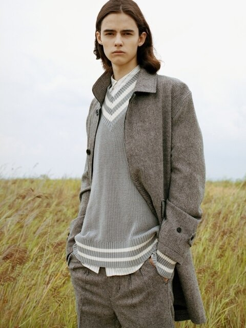 EASY BALMACAAN COAT (GREY)