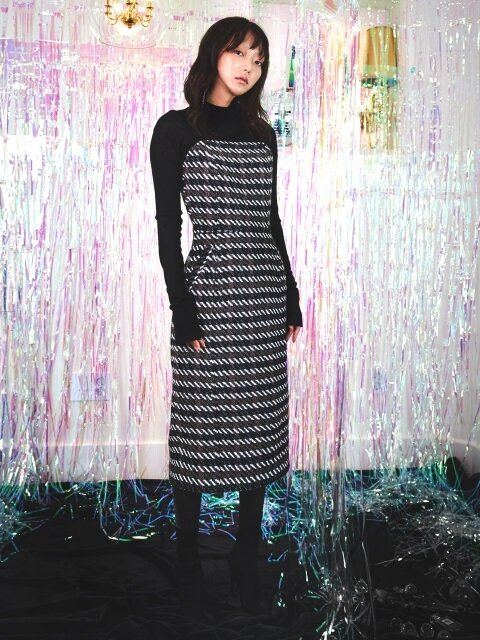 Knit Combo Tube Top Dress_Multi