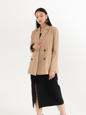 OVERSIZE DOUBLE JACKET . BEIGE