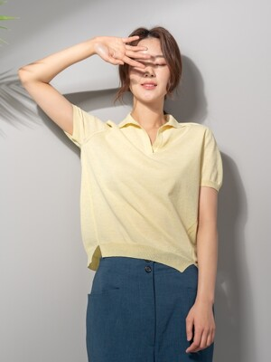 Summer Knit Top - LEMON