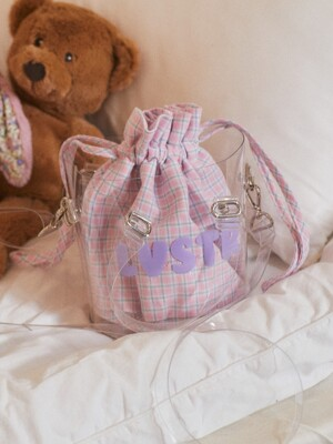 LU CHECK POUCH (PINK)