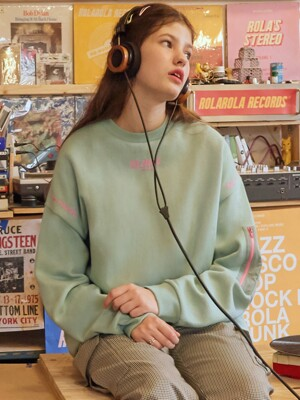 (TS-19521) SLEEVE POCKET SWEATSHIRT MINT