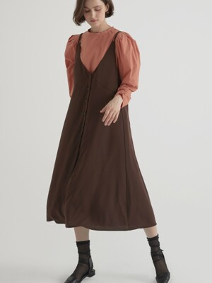 2 way layered one-piece - Brown
