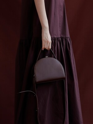 [EXCLUSIVE] HALFMOON FRAME BAG - WINE