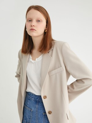 20' SPRING_Beige Single-Breasted Jacket