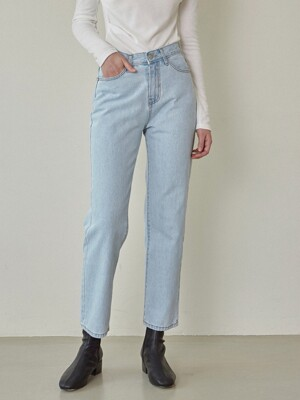 COOL WASHING DENIM PANTS_LIGHT BLUE