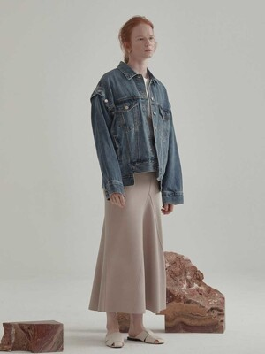 Poetique Oversized Denim Jacket_Blue
