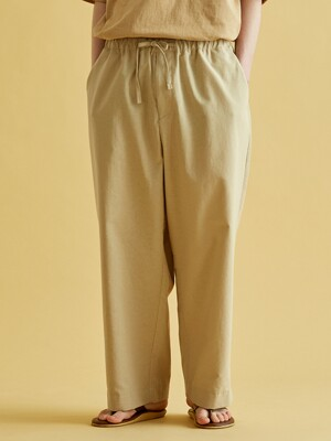 SIMULATE LINEN AMPLE PANTS (5color)