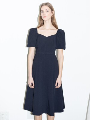 [20SS] RODEO DRIVE Square neck A line dress  (Deep navy)