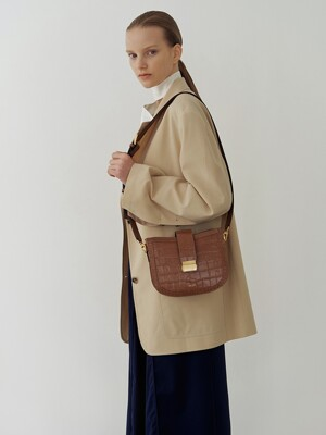 Brick bag (Croc brown)