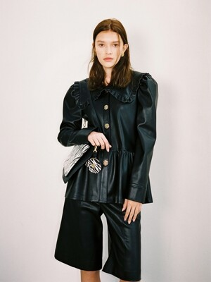 ALICE PETERPAN BLOUSE JACKET_LEATHER