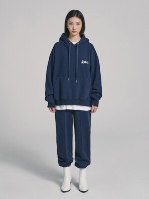 [SET UP] GAC LOGO JOGGER SET navy (기모)