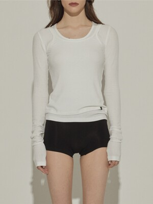 Layered Soft Top (White)