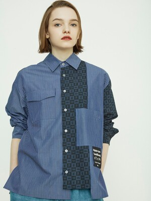 Check and Stripe Shirt_QUSAX21110NYD