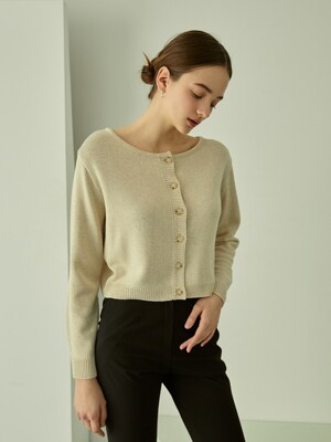 Soft Linen 2-way Cardigan (Beige)