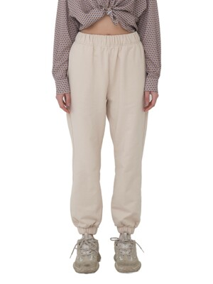 Basic Logo Jogger Pants [Beige/Heather Grey/Black]