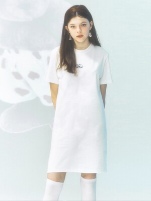 [CITY] Lenticular Boxi Jersey Dress_WHITE (CTD1)