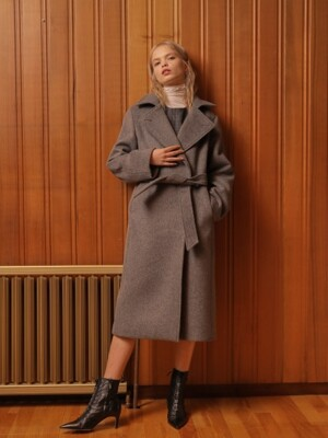 DOUBLE SLIM WOOL COAT_GRAY
