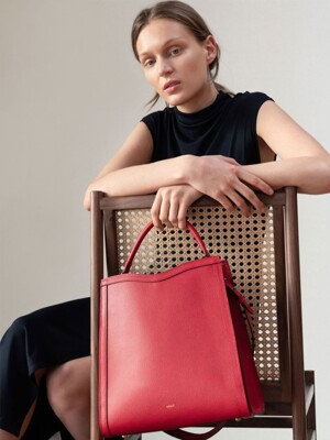 TRAPE TOTE BAG_RED