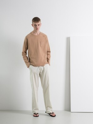 DGRE 디그레 GREAT WIDE LOOSE FIT PANTS IVORY