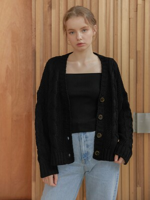 Butter Twist Cardigan_Black