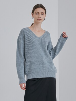 SOFT KNIT TOP_BLUE