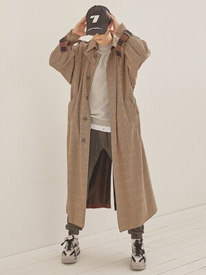 Single button OVERFIT TRENCH COAT_Check
