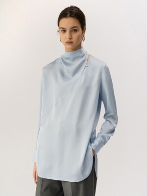 19FW CUT-OUT BLOUSE (LIGHT BLUE)
