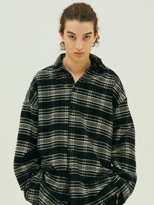 Plaid Black Over SH_BK
