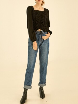 Retro straight denimm pants[blue]