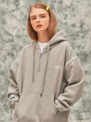 AF GRADATION BOX HALF HOOD ZIP-UP (MELANGE)