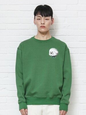 기모ILP HQ WAPPEN SWEAT-SHIRTS 2019FW GREEN