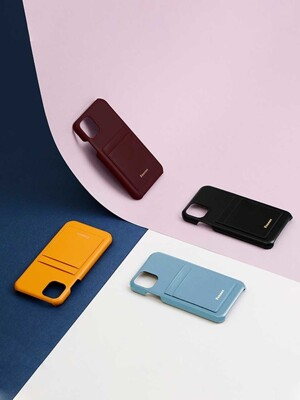 LEATHER IPHONE 11 CARD CASE (5 COLOR)
