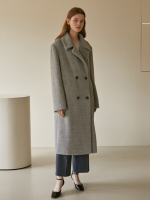 19W ALPACA LONG COAT (GREY)