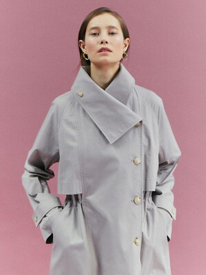 [Classy Cotton] String Double Trench Coat_2color