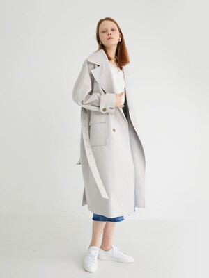 20' SPRING_Eider Grey Over Trench Coat